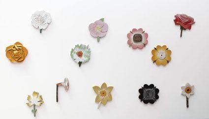 ceramic flower garden at fujiwo ishimoto's 2010 exhibition at spiral