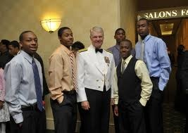 BDPA NY  |  Admiral Gary Roughead, Chief of Naval Operations ( #CNO ,) meets with students from National BDPA's New York Chapter ( #BDPA-NY ) at a pre-award networking reception during the 2010 National #BDPA #Technology Conference Award Gala in Philadelphia.