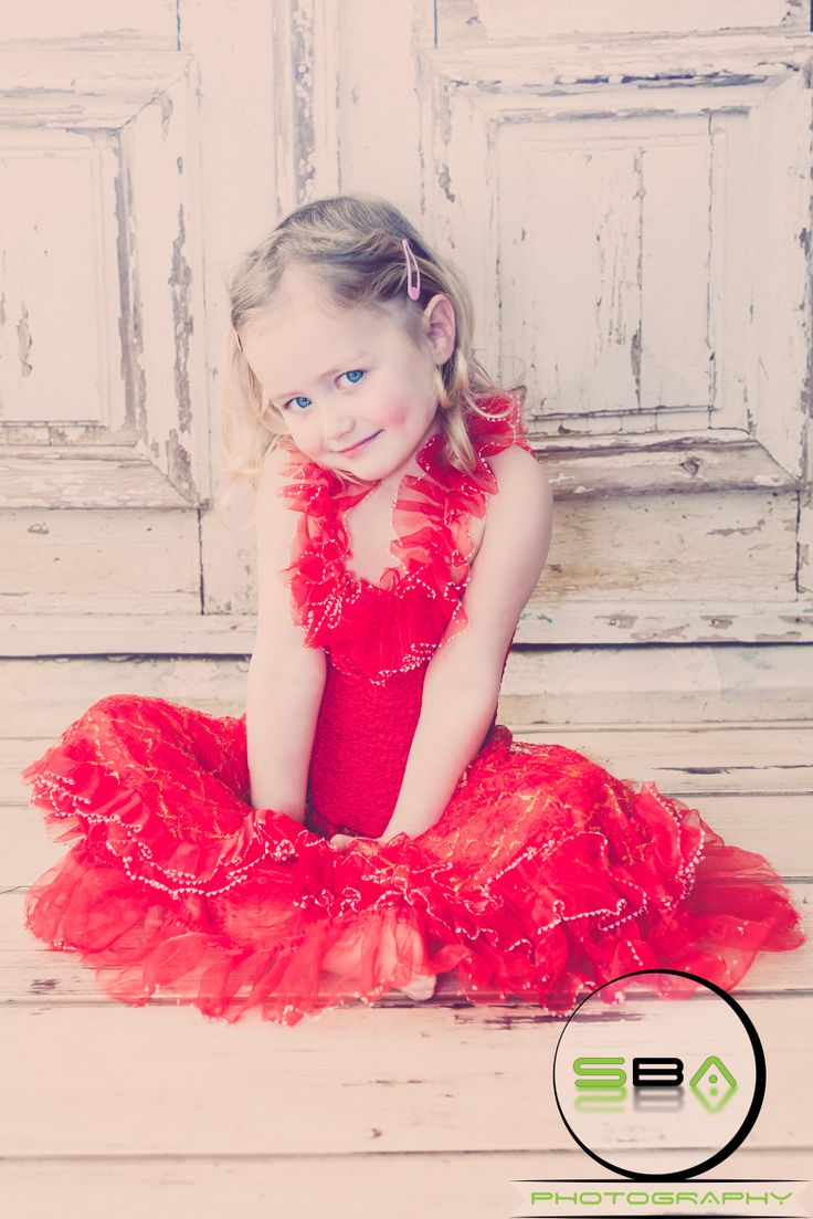My Daughter in a red Flamingo dress.