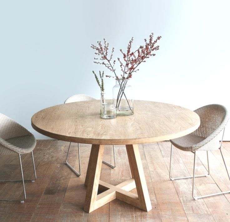 Cross Leg Round Dining Table Whitewashed Teak 140 Dining Table Dining Table Decor Round Table Decor
