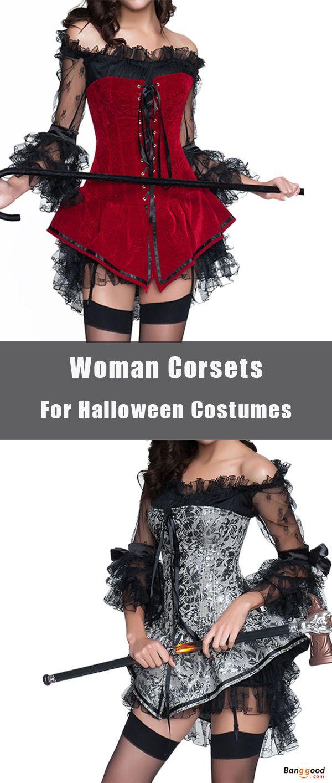 US$20.89 + Free shipping. Halloween Costumes Woman Sexy Back Zipper Jacquard Steel Bone Corsets Waist Shaper Bustiers.