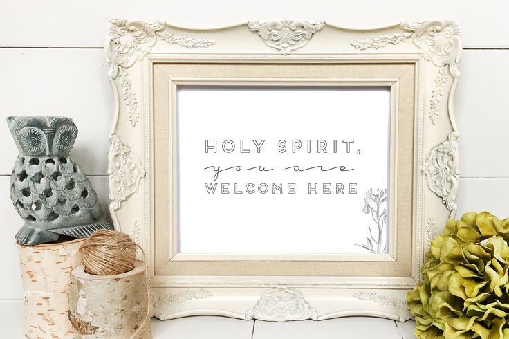 Holy Spirit You Are Welcome Here | Worship Song | Hymn | Praise Song Home Decor Printable | Digital Download | Living Room | Typographic Art by WindandSeed on Etsy