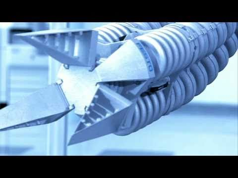 """Festo's Bionic Handling Assistant in action - it is a light, free-moving """"third hand"""" system which is based on the elephant's trunk.    A great example of how automation can be used to Innovate Better."""