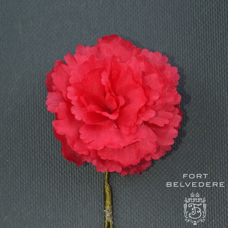 Handkerchief - Carnation pink with off-white herringboned flowers Notch New Arrival Cheap Price qfGfZ6OWy