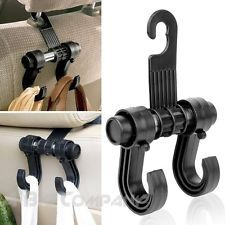 UNIVERSAL FIT SEAT BACK HEADREST HANGER HOLER CAR ORGANIZER HOOK CLOTHES BAG SUV