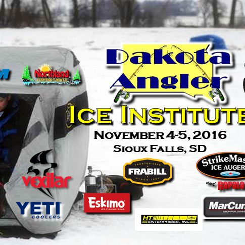 Finally, the official start of the 2016/2017 ice season. Headed down the road for the first seminar of the year. Sioux Falls, SD  is the place to be. The Dakota Angler's Ice Institute starts today and goes through tomorrow.  Check it out!  I'll be giving away a new Fee Fall from 13Fishing tonight after the seminar at 7 pm.  Eskimo Ice Fishing Gear ION Ice Augers 13 Fishing Seaguar Fluorocarbon Custom Jigs & Spins Raymarine MarCum Technologies Lund Boats Bite Me Box Tip Ups #outdoors…