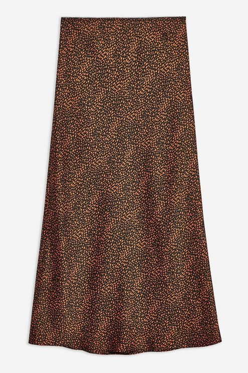 cf43dc096 PETITE Spot Animal Satin Bias Midi Skirt in 2019   Winter Wardrobe ...