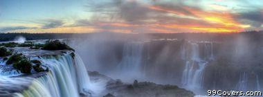 iguazu falls brazil and argentina border Facebook Cover