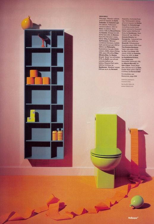 Orange toilet paper!