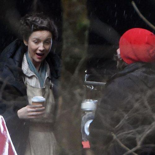 "BTS photos from the filming of Outlander_Starz Season 4 w/Caitriona Balfe as Claire Fraser - Drums of Autumn - myolgamakworld: """""