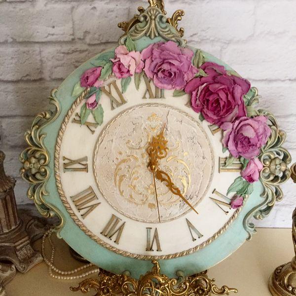 """268 Likes, 7 Comments - Мастерская Декора""""Афина"""" Римма (@rimma_vita) on Instagram: """"Добрый день! Представляю подетально новые часики Викторианская роза, 50х45, скульптурная живопись,…"""""""