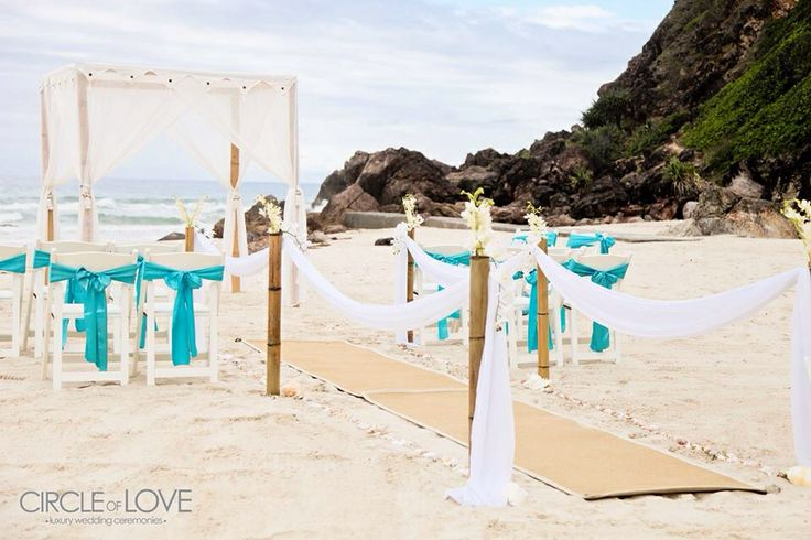 Miami Beach wedding ceremony  (opposite Miami Beach Surf Club) set up by Circle of Love Weddings    Getting married soon?   Find out more from Gold Coast Celebrations ~ Tennille Jones, Marriage Celebrant