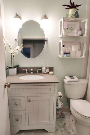 Tiny Bathroom Makeover Ideas On A Budget (39)