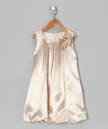 Look at this #zulilyfind! Champagne Rose Bubble Dress - Toddler & Girls #zulilyfinds