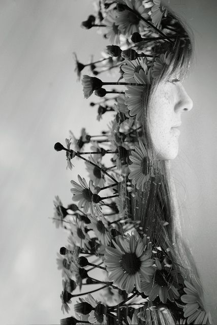 I'd love to learn how to do stuff like this, but I think it's more photoshop than straight double exposure with a camera and a roll of film...