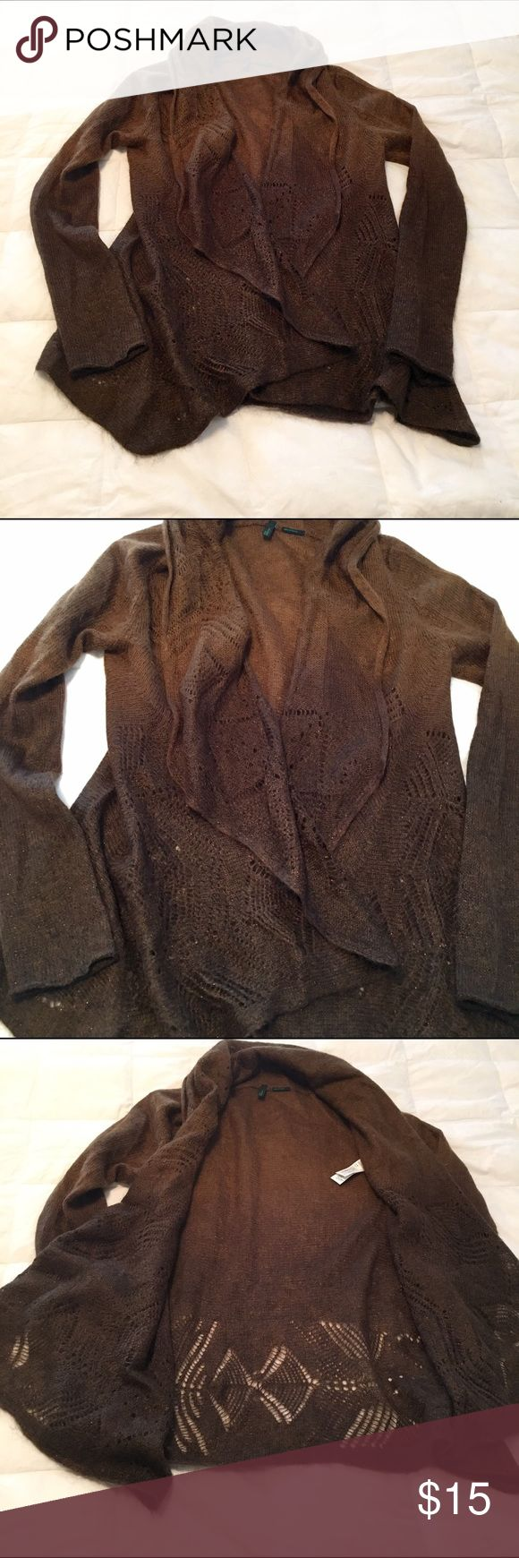 Benetton wrap sweater Brown ombré wrap-style sweater from Benetton. XS. Benetton Sweaters Shrugs & Ponchos