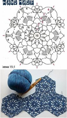 crochet lace hexagone motif