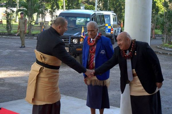 Language: In the image, we see Tongan people speaking and greeting each other. They are speaking the language Tongan. Tongan is the main language of Tonga, with English coming second. English is taught as a secondary language in school. The language features many symbols and accents in the different words. Most of the time, first names mean something. For example, the male name Ahu means smoke. A common greeting in Tonga is: Ko hai ho hingoa? This translates to: What is your name?