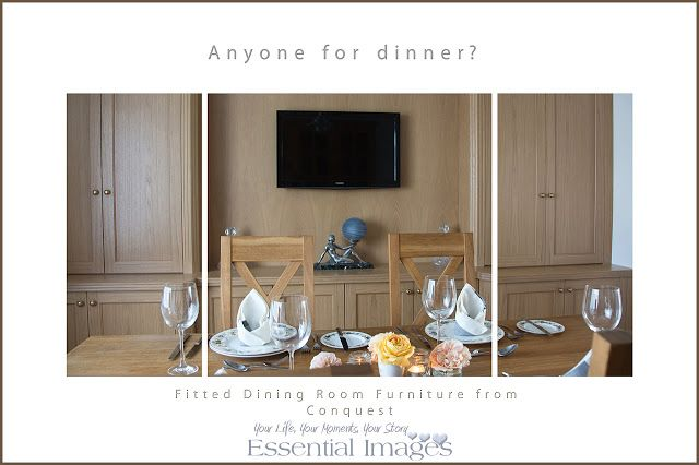 Essential Images Photography in Hampshire: Now it's time for dinner and now one of my favourite places with my Conquest Fitted dining room furniture! :)