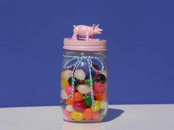 Pink Pig Storage Jar
