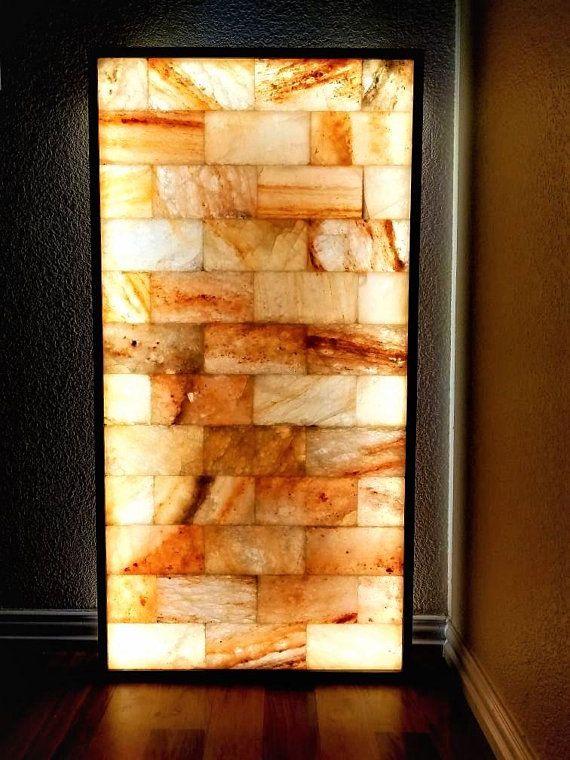 Himalayan Salt Wall Himalayan Salt Panels And Panes Himalayan Etsy Himalayan Salt Room Salt Room Salt Stone