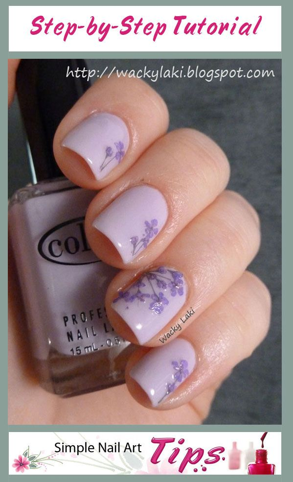 1000 Images About Dried Flower Nail Art On Pinterest