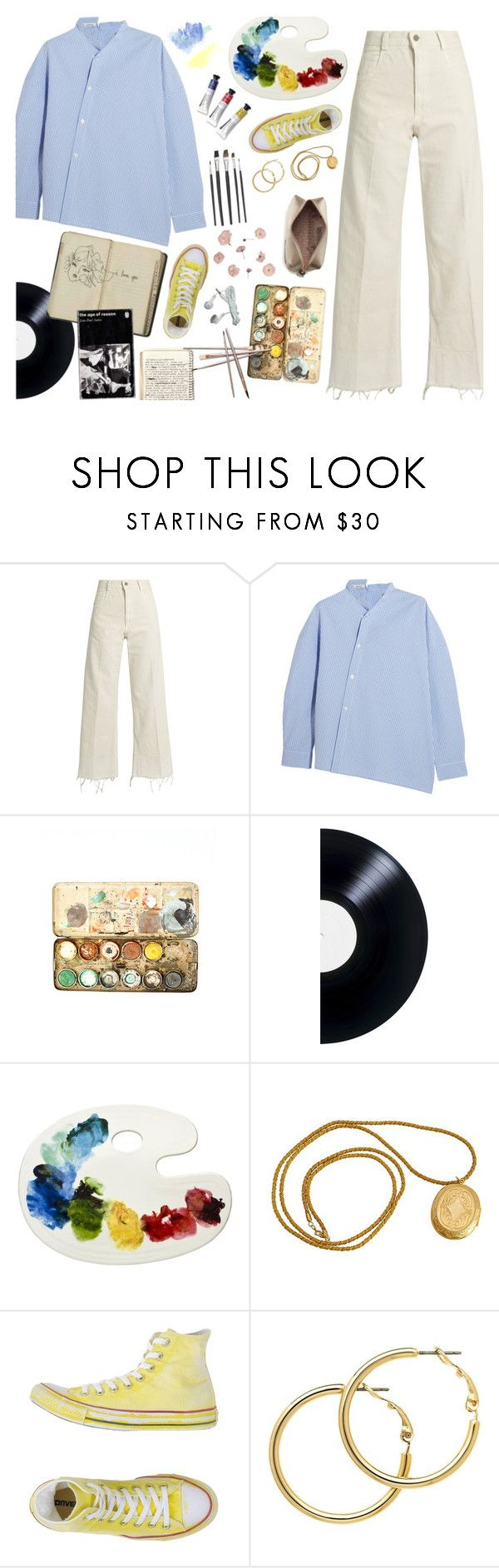 """""""The Artist"""" by amalieknygberg ❤ liked on Polyvore featuring Rachel Comey, Totême, Converse, Melissa Odabash and Anya Hindmarch"""