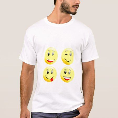 Funny Yellow Emojis Men's Basic T-Shirt - tap, personalize, buy right now!