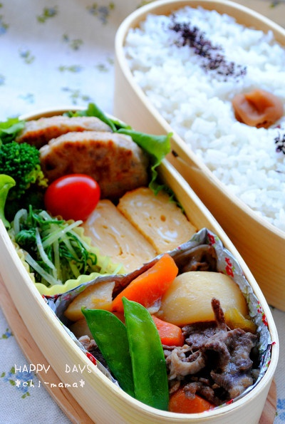 Nikujyaga (Japanese Stewed Meat & Potato) Bento Lunch by chi-mama 肉じゃが弁当
