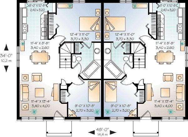 plan 21247dr economical two family home plan