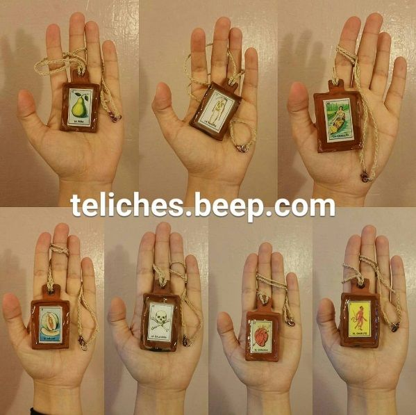 Loteria card necklaces available for sale in my Etsy shop: https://www.etsy.com/shop/teliches