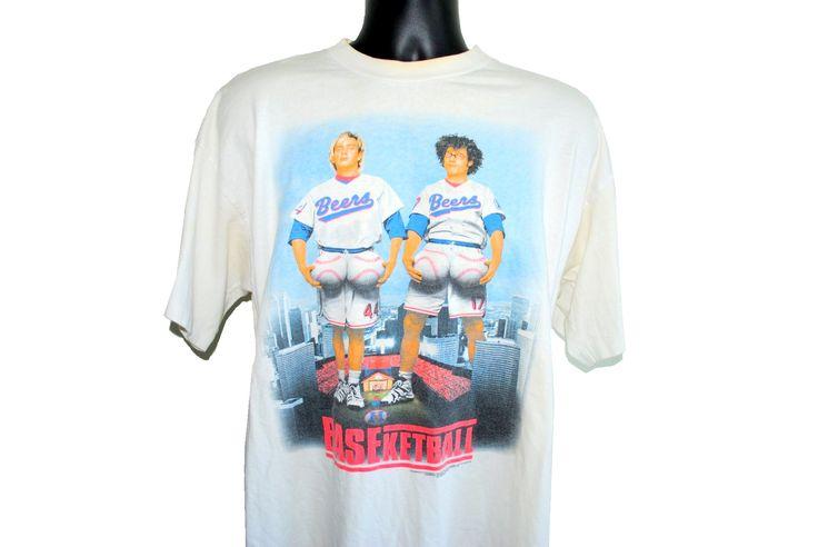 1998 BASEketball Vintage 90's Cult Classic Matt Stone & Trey Parker Comedy Sports Movie Promo T-Shirt