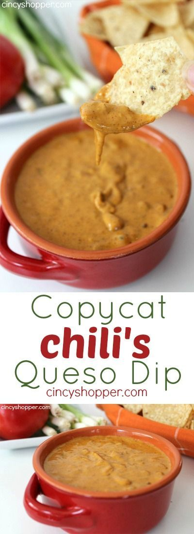 Copycat Chili's Queso Dip Recipe. Perfect for the Game Day entertaining. YUM!