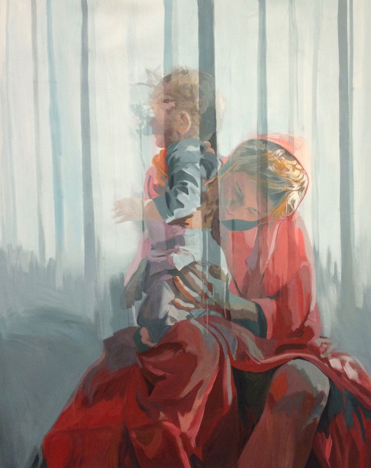 Anna Caruso | La profana famiglia | 2012 acrilic on canavas | 90x70cm