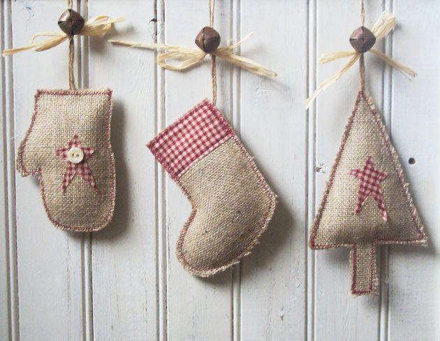 M s de 1000 ideas sobre ornamentos de rbol de navidad en - Adornos navidenos en tela ...