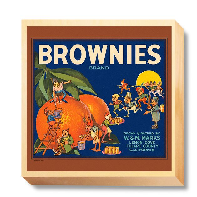 LAB 039 Crate Label Brownies Brand