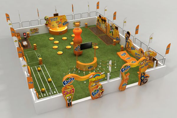 Fanta kids event by Ahmed Ismail, via Behance