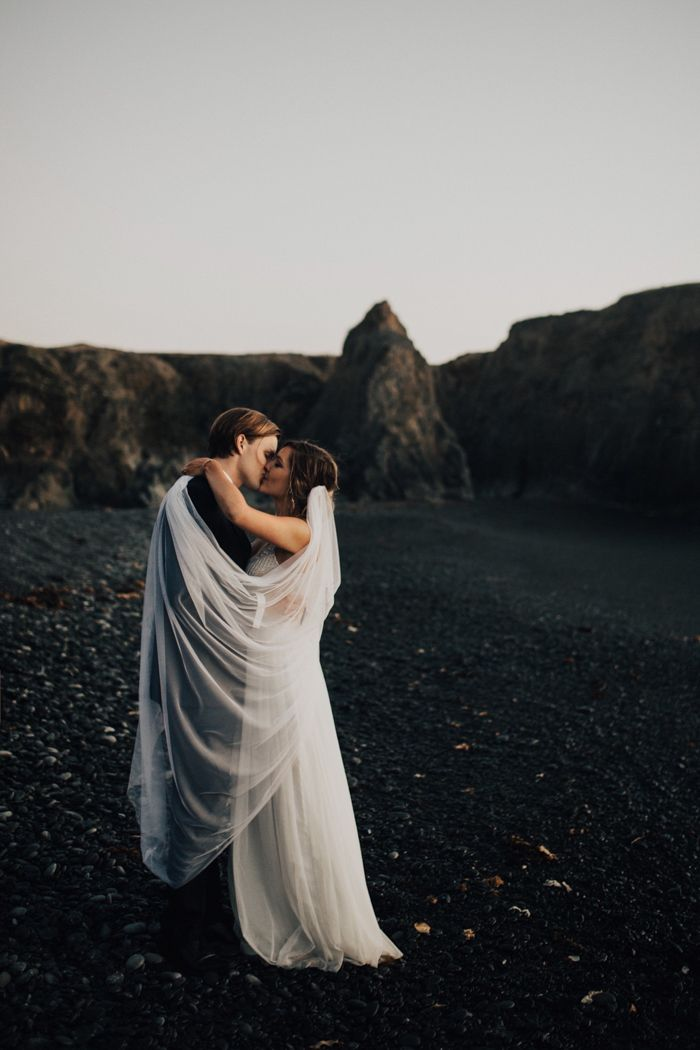 Nothing more beautiful than this lovely couple and their laidback wedding at Shelter Cove | Image by India Earl
