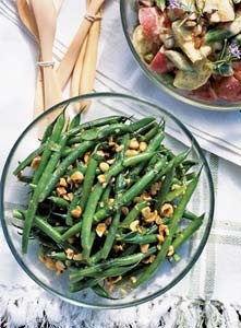 Green Bean Hazelnut Mint Salad with Lemon Dressing! Make this at the next cookout you have | my recipes