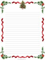 FREE Printable Christmas Lined Stationery | Stationery | Pinterest ...
