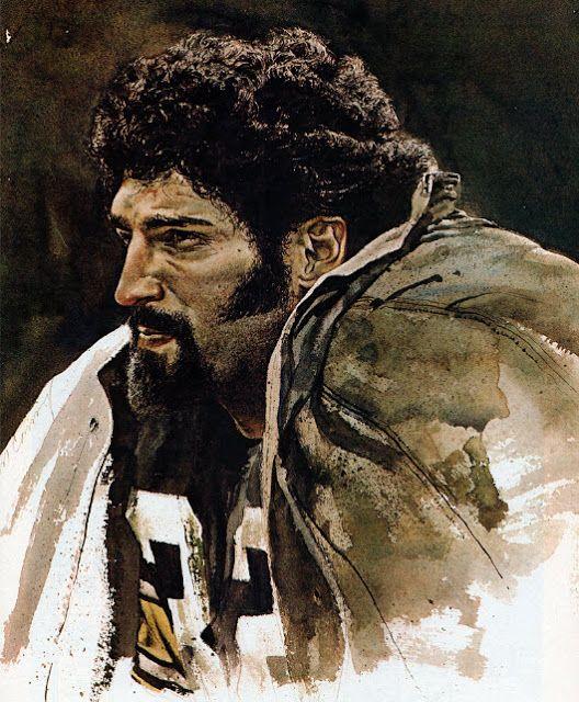 Pittsburgh Steeler Halfback Franco Harris by Merv Corning Pro Football Journal Presents: NFL Art: Merv Corning