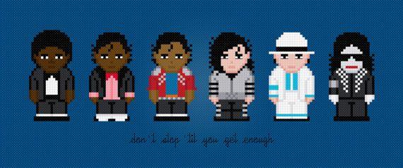 Michael Jackson Digital PDF Cross Stitch by AmazingCrossStitch