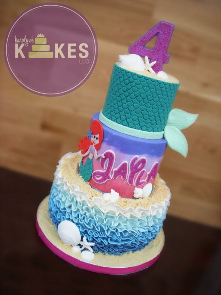 Little Mermaid Kake One Of My Favorite Cakes That I Ve