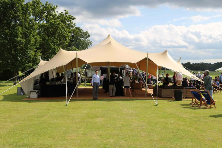 A bar tent at The Royal County of Berkshire Polo Club