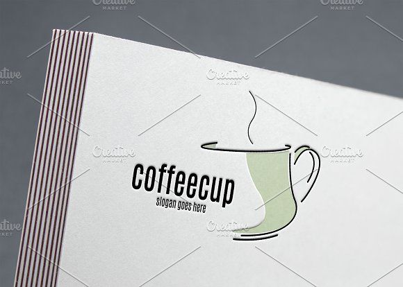 Coffee Cup Logo by Aghadhia on @creativemarket