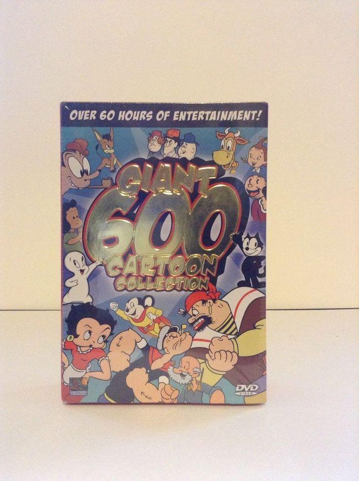 NIP Giant 600 Kids Cartoon DVD Collection Popeye Betty Boop & More 60 Hours #MillCreek