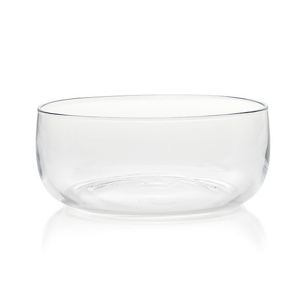 """Ollie Large Glass Bowl // crate & barrel * for entree salads = 10.75"""" dia. x 4.5"""" H"""