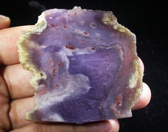 185.0 CTS DUMORITIERITE SLAB FROM TURKEY [F6171]  AGATE DISPLAY GEMSTONE SPECIMEN GEMSTONE, FROM GEMROCKAUCTIONS.COM