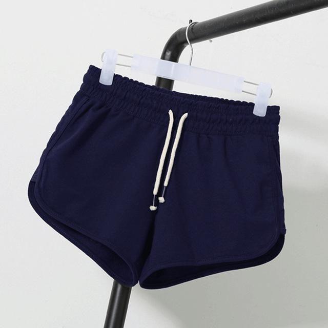 Summer Street Fashion Shorts Women Elastic Waist Short Pants Women Loose Solid Soft Cotton Casual Short Femme Black Grey White