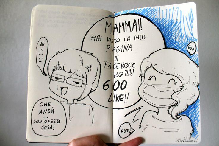 """Per i 600 """"mi piace"""" nella fan page Martaderenzicreations  #vignetta"""